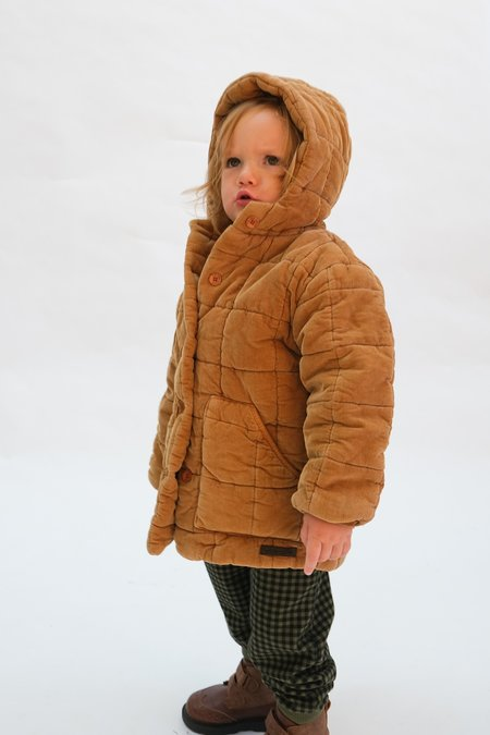 Kids My Little Cozmo  Quilted Corduroy  Coat - Caramely