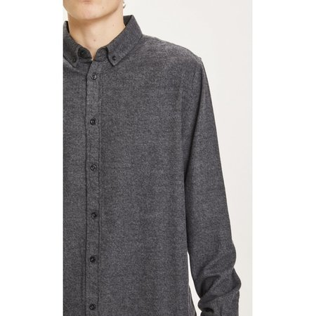 knowledge cotton apparel Larch casual fit flannel shirt