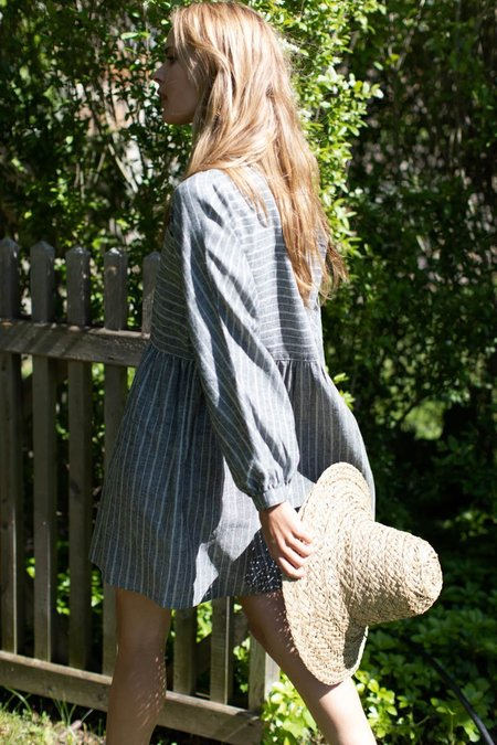 Emerson Fry Selma Longsleeve Dress - Black Stripes
