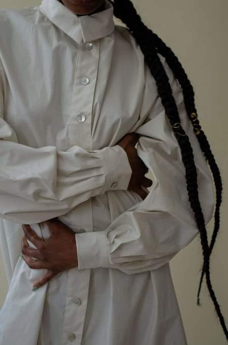 Nin Studio Omni Button Up Shirt - Beige
