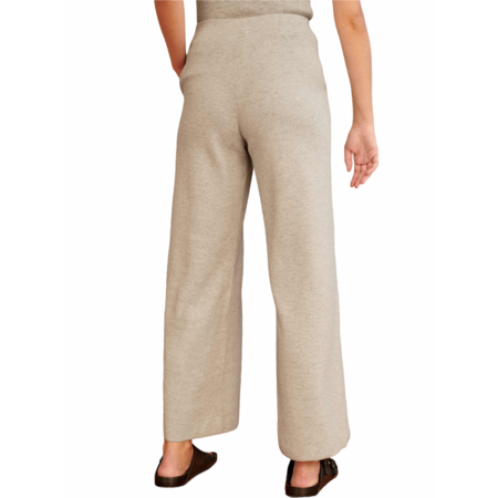 White+Warren Cotton Stretch Pull On Cropped Pant - Cream
