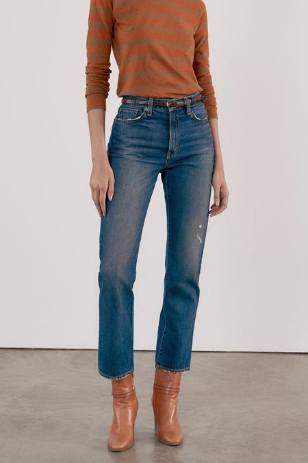 Nili Lotan Straight Leg Jean - Classic Wash
