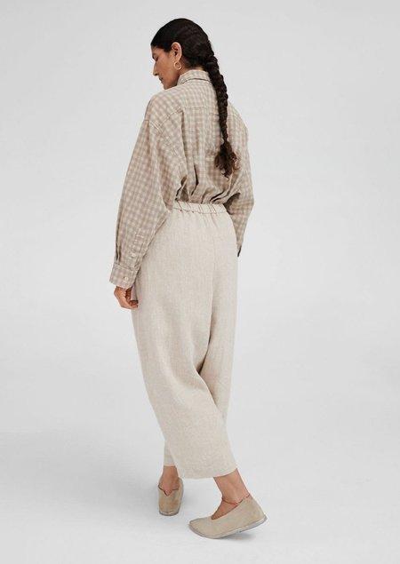 Mónica Cordera Natural Linen Maxi Pants - Linen