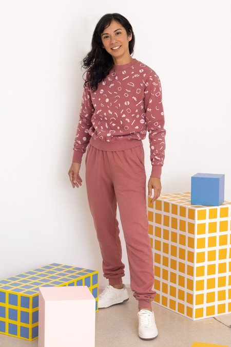 North Of West Nicki Organic Jogger - Mulberry