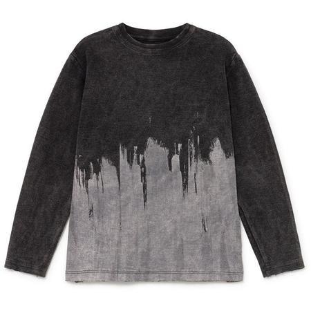 Kids little creative factory soft stonewash  t-shirt - brushstroke