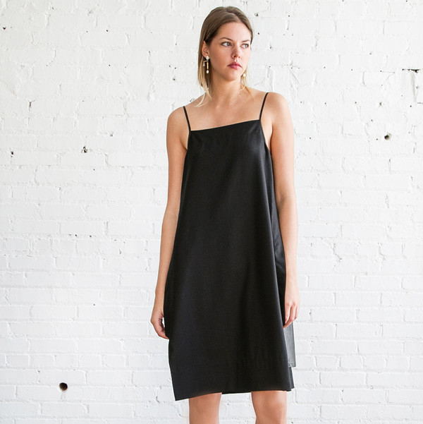 Gary Graham Slip Dress Black