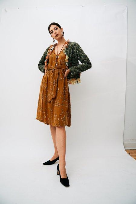 PRE-LOVED Dolce & Gabbana Boucle Ruffle Trim Jacket - GREEN