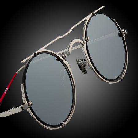 UniseX VYSEN Eyewear Arie Shiny A-2 EYEWEAR - Silver/Matte Black