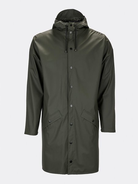 Unisex Rains Long Jacket - Green