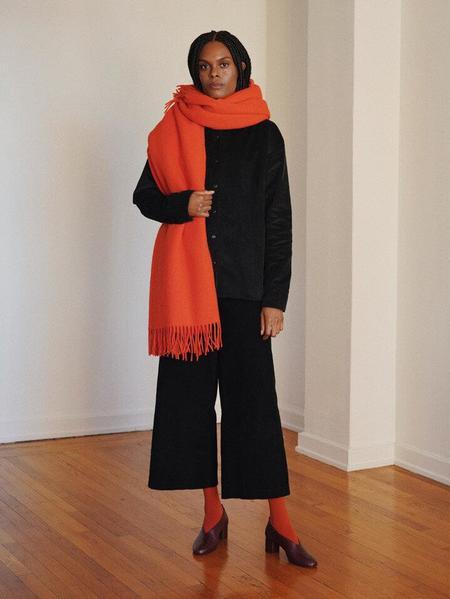 Oversized Blanket Scarf in Black by Delfina Balda