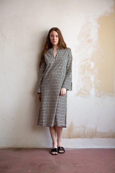 Erica Tanov 1965 Nava Dress - Natural/Black/Navy