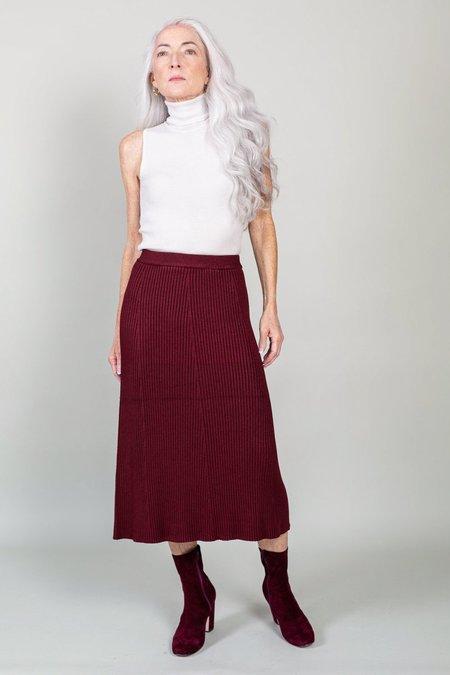 Christian Wijnants Kritt Ribbed Knit Skirt - Bordeaux