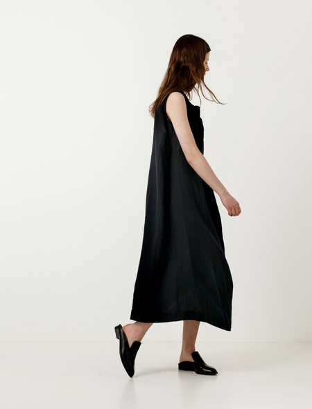 Ys by Yohji Yamamoto Diagonal Pleat Dress