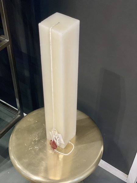 """Celine Cannon Square Pillar Natural Solid 20"""" Candle"""