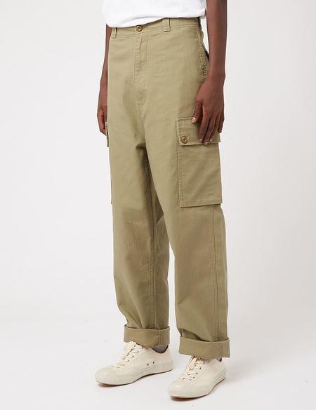 Nigel Cabourn Herringbone Dutch Pant - US Green