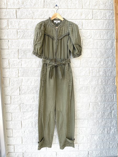 Sea NY Layla Quilted Sleeve Jumpsuit - Army