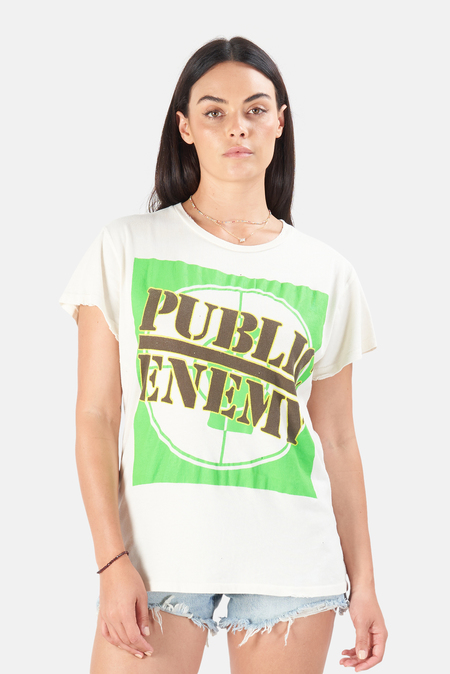 MadeWorn Rock Public Enemy Welcome to the Terrordome T-Shirt - Off White