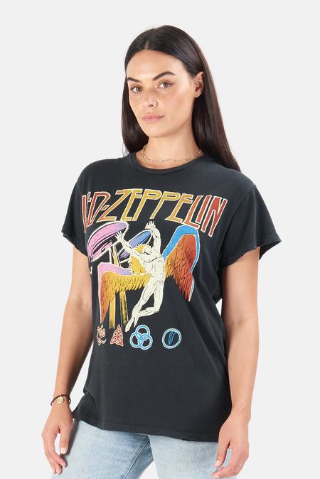 MadeWorn Rock Led Zeppelin Dancing Days T-Shirt - Coal Pigment