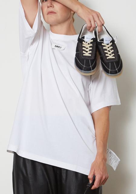Maison Margiela MM6 Oversized Reversed Logo T-Shirt - White