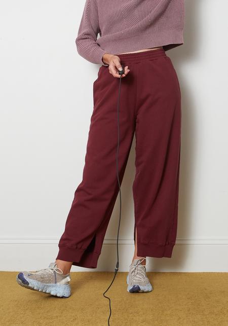 Maison Margiela MM6 Oversized Tracksuit Trousers - Burgundy
