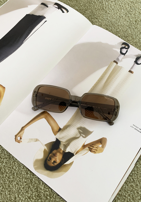 DMY by DMY Luca Sunglasses - Transparent Olive