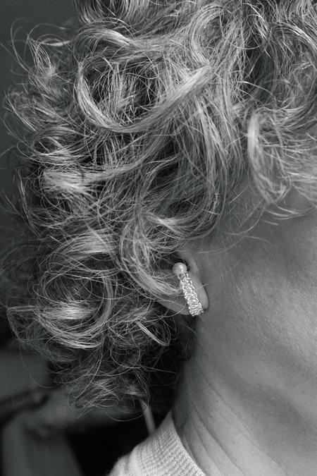MIRIT WEINSTOCK MIZUHIKI AND PEARL EARRINGS