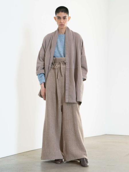 Atelier Delphine Haori Cotton Coat - Warm Grey