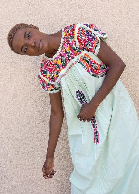 Vintage Cotton Embroidered Dress