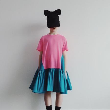 Kids caroline bosmans t-shirt dress - pink/turquoise
