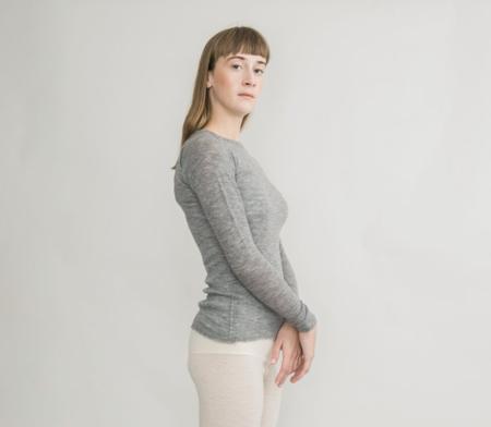 gudrun&gudrun Eco Wool Barba Pullover - Light Grey