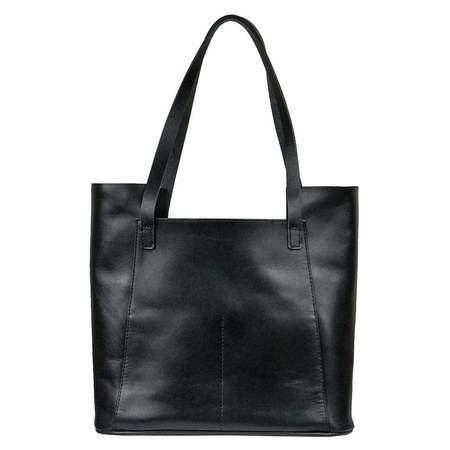 Embrazio Semplice Leather Tote - Black