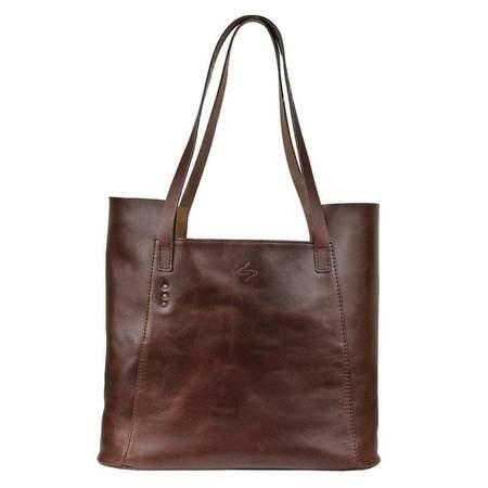 Embrazio Semplice Leather Tote - Bordeaux