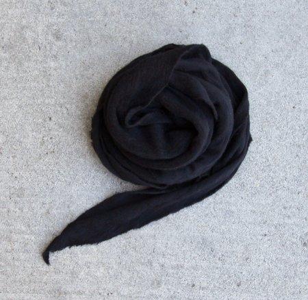 MINT Italian Cashmere Jersey Scarves - Black