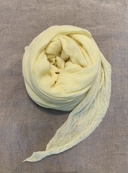 MINT Italian Cashmere Jersey Scarves - Baby Yellow