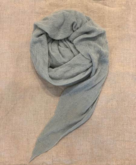 MINT Italian Cashmere Jersey Scarves - Sage Green