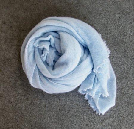 MINT Italian Cashmere Jersey Scarves - Sky Blue