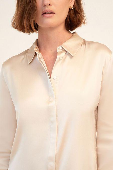 Ginia Poppy shirt - Soft stone