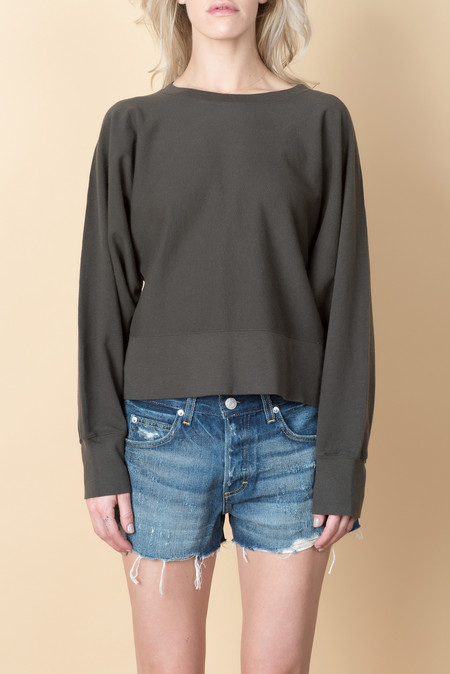 Lauren Manoogian Cashmere Dolman Sweat In Carbon