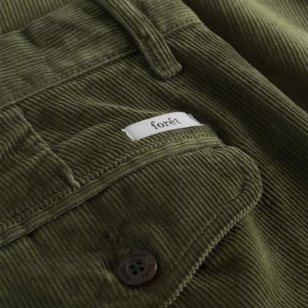 Foret Grass Corduroy Chino Pants - Army Green