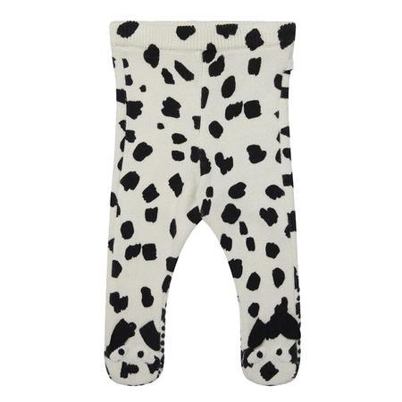 Kids Stella McCartney Knit Leggings With Dalmatian Spots - Cream