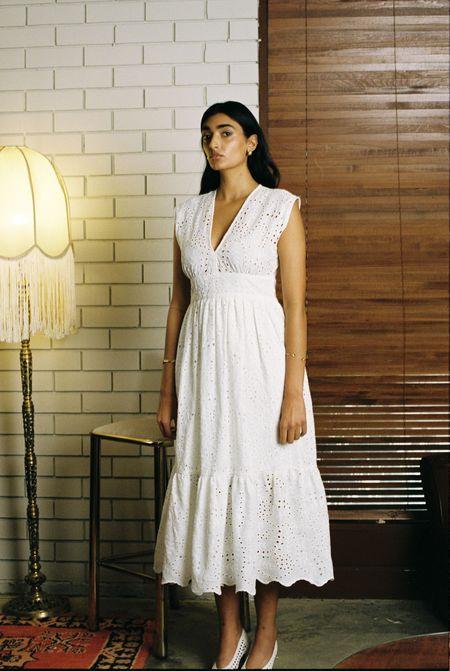 Sunshine Symbol Billie dress - Ivory