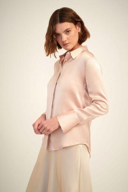 Ginia Poppy shirt - Silver Pink