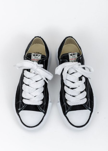 Mihara Yasuhiro Original Sole Lowtop Sneaker - Black Ponyskin