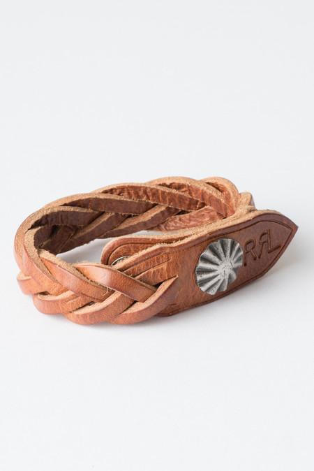 RRL Concho Leather Cuff In Brown