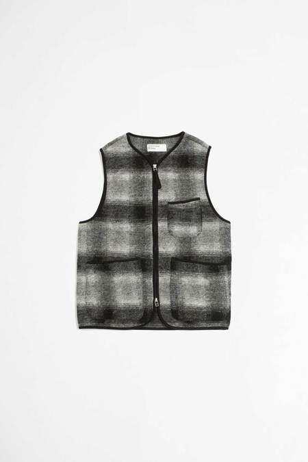 Universal Works Zip gilet vest - grey/charcoal