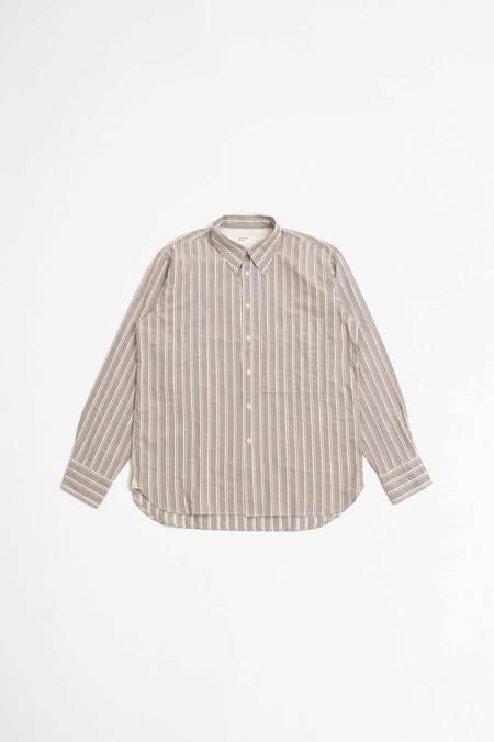 Universal Works Big pocket shirt - vintage stripes sand