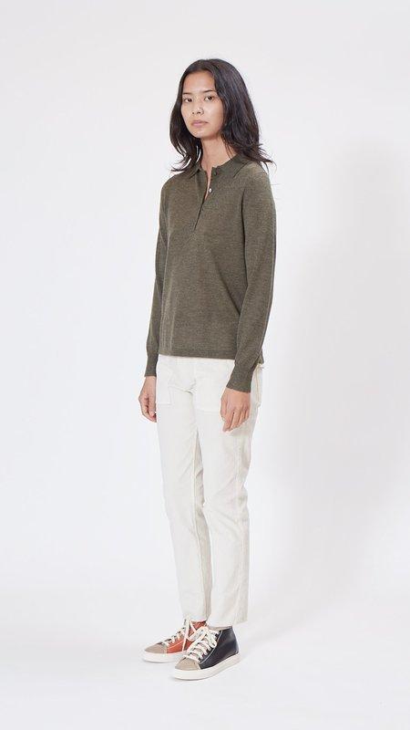 Nili Lotan Polo Sweater - Army Green