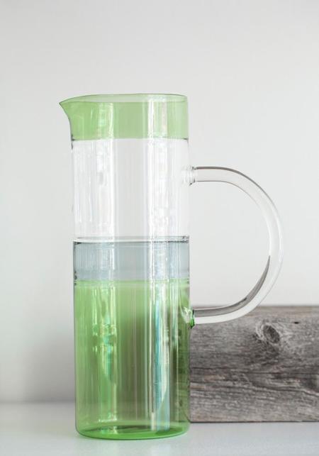 Ichendorf Tequila Sunrise Cylinder Jug - Green/Smoke/Clear