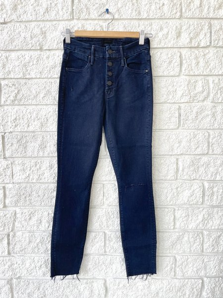 Mother Denim THE PIXIE ANKLE FRAY jeans - Blue