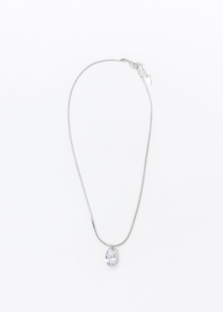 DEPARTMENT Tulip And Pearl Necklace - White Gold